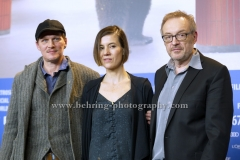 "Josef Hader (Regisseur, Drehbuchautor, Schauspieler/ Director, Screenwriter, Actor), Pia Hierzegger (Schauspielerin/Actress), Georg Friedrich (Schauspieler/ Actor), attends the ""WILDE MAUS"" Photo Call at the 67th BERLINALE, Berlin, 11.02.2017"