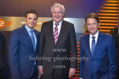 "ZDF-Programmdirektor Norbert Himmler, Bundesinnenminister Horst Seehofer, Moderator Rudi Cerne,  ""XY-Preis 2019"", 18. Preisverleihung, ZDF-Hauptstadtstudio, Berlin, 20.11.2019"