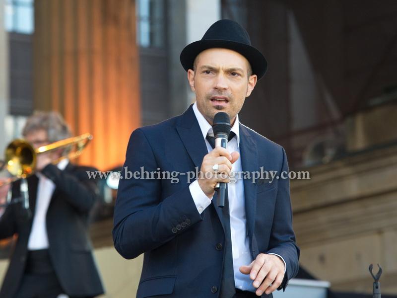 """Cicero sings Sinatra"", Konzert auf dem Gendarmenmarkt, Berlin, 06.07.2015"