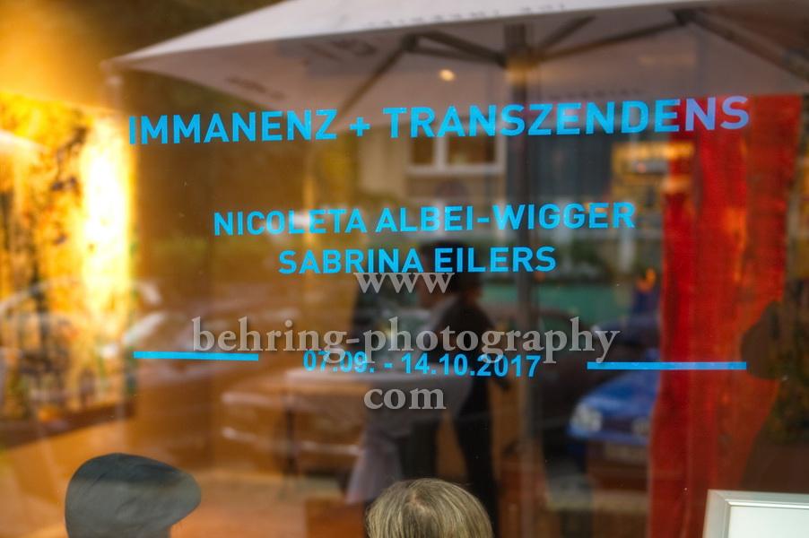 Immanenz & Transzendenz, Vernissage, Berlin, 06.09.2017