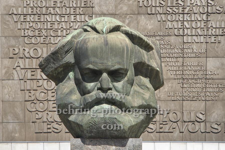 Karl-Marx-Monument im Stadtzentrum von Chemnitz, 09.05.2019
