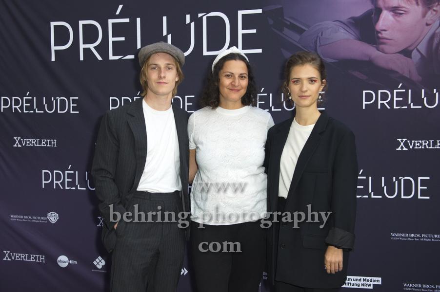 """Louis Hofmann, Regisseurin und Autorin Sabrina Sarabi, Liv Lisa Fries, """"PRELUDE"""", Premiere, FAF, Berlin, 21.08.2019"""