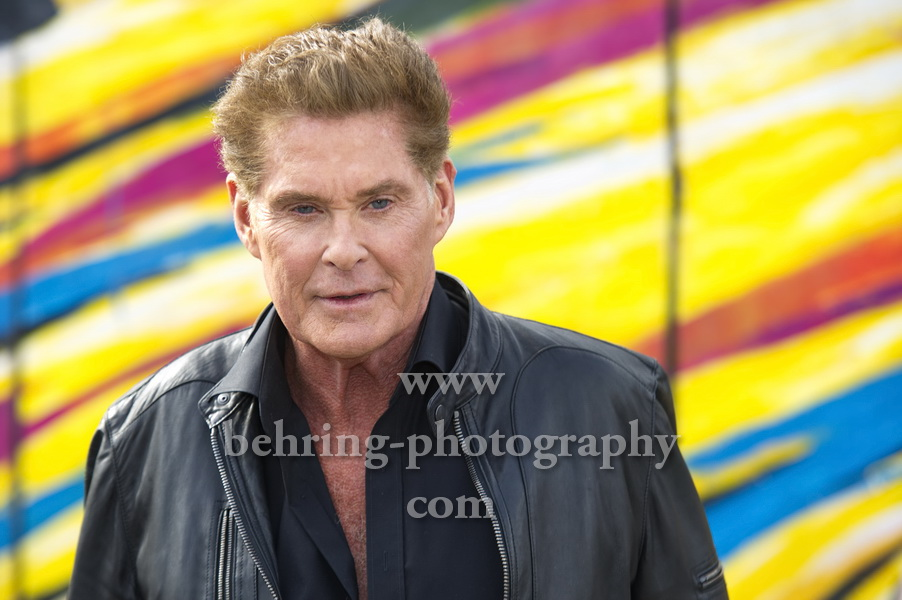 DAVID HASSELHOFF - UP AGAINST THE WALL – MISSION MAUERFALL, Photocall, East Side Gallery, Berlin, 17.09.2019