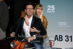 """""""25kmh"""", Tobey Wilson und Sabrina Gehrmann, Roter Teppich zur Premiere, CineStar am Sony Center, Berlin, 25.10.2018 (Photo: Christian Behring)"""