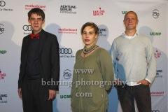 """Alexander Aehlig, Friederike Höhn, Christoph Kiessig (Jury Preis der Ökumenischen Jury), """"ACHTUNG BERLIN FESTIVALABSCHLUSS"""", Photo Call, Kino Babylon, Berlin, 20.09.2020,"""