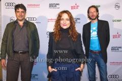 "Johannes Naber, Anne Ratte-Polle, Jakob D. Weydemann (Jury Spielfilm), ""ACHTUNG BERLIN FESTIVALABSCHLUSS"", Photo Call, Kino Babylon, Berlin, 20.09.2020,"