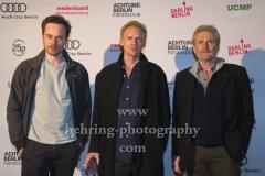 "Jörg Witte, Florian Bartholomäi, Pit Bukowski, ""CHASING PAPER BIRDS"", Photo Call beim Festival ""Achtung Berlin"" vor dem Kino Babylon, Berlin, 17.09.2020"