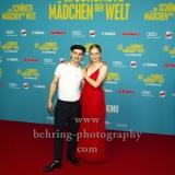 """Das schoenste Maedchen der Welt"", Aaron Hilmer, Luna Wedler, Photo call am Roten Teppich, Cubix am Alexanderplatz, Berlin, 22.08.2018,"