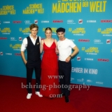 """""""Das schoenste Maedchen der Welt"""", Aaron Hilmer, Luna Wedler, Damian Hardung, Photo call am Roten Teppich, Cubix am Alexanderplatz, Berlin, 22.08.2018,"""