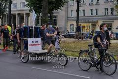 """""""Rettet die Veranstaltungsbranche"""", Demonstration unter Coronabedingungen, vom Frankfurter Tor zum Oranienplatz in Berlin, 10.07.2020"""
