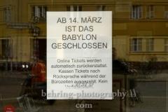"""Kino Babylon, """"Geschlossene Gesellschaft"""", Berlin, 15.03.2020"""