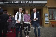"""Regisseur Andreas Voigt, Produzentin Barbara Etz, Bundespräsident Frank-Walter Steinmeier, """"GRENZLAND"""", Filmpremiere, Kino Babylon, Berlin, 09.07.2021"""