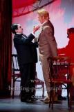 """Hercule Poirot - Katharina Thalbach,Monsieur Bouc - Tobias Bonn,""""Mord im Orientexpress"""", Fotoprobe in der Komödie am Kurfürstendamm im Schiller Theater, Berlin, 20.07.2021, Premiere am 24.07.2021,"""