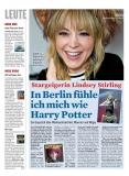 Berliner Kurier vom 16.09.2019: Lindsey Stirling Titelbild, Abdruck 2019