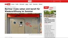 """""""Umfrage der Clubcommission"""", rbb24 vom 20.05.2021"""